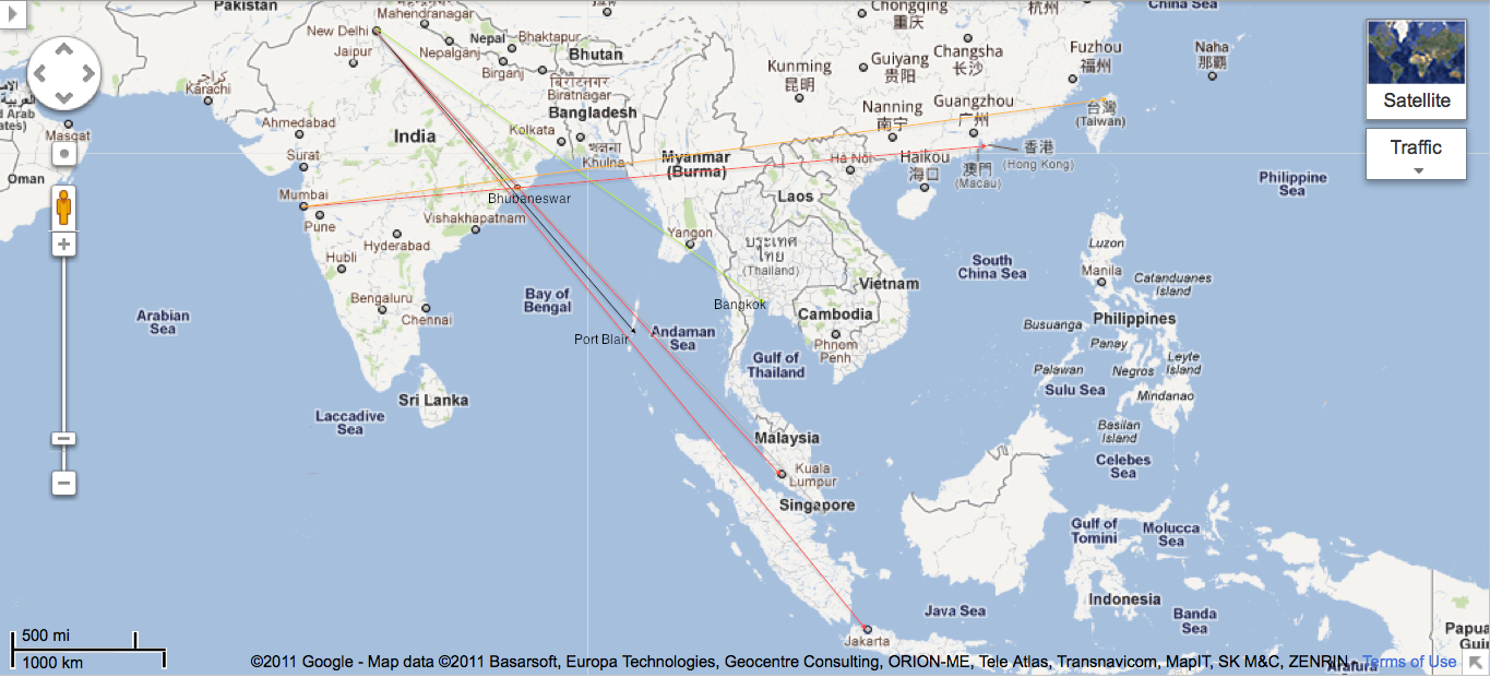 While flying from new delhi to singapore why does singapore while flying from new delhi to singapore why does singapore airlines hug the coast of bay of bay of bengal and takes a longer route while other airlines gumiabroncs Images